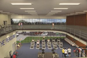 Graphic of inside of proposed rec center.