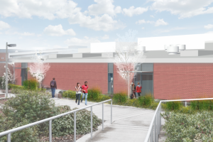 Illustration of what the new building will look like