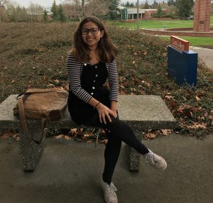 Caitlyn Pedroza loves old-timey and comfy clothes. (Annika Larman-The Indy)