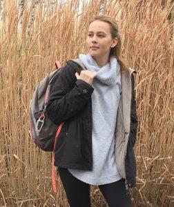 Elena Lobanova likes to wear lightweight high necks during the winter. (Annika Larman/The-Indy)