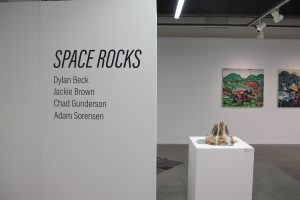 The Space Rocks exhibit is a collaborative set of art work, created by Dylan Beck, Jackie Brown, Chad Gunderson and Adam Sorenson. (Dylan Turk/The Independent).