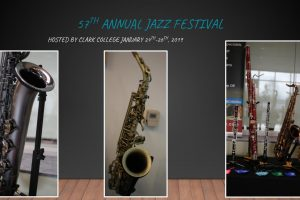 57th Annual Jazz Festival: Hosted by Clark College January 24th - 26th. Included are several pictures of instruments