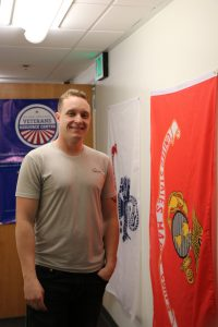 Marine Veteran Colby Benzler praises the environment the Veterans Resource Center provides. (Annika Larman/The Indy)