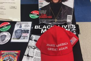 The museum included symbols that addressed the tense divide of modern politics (Sarah Kasten/The Indy)