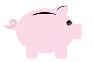 drawing of a piggy bank